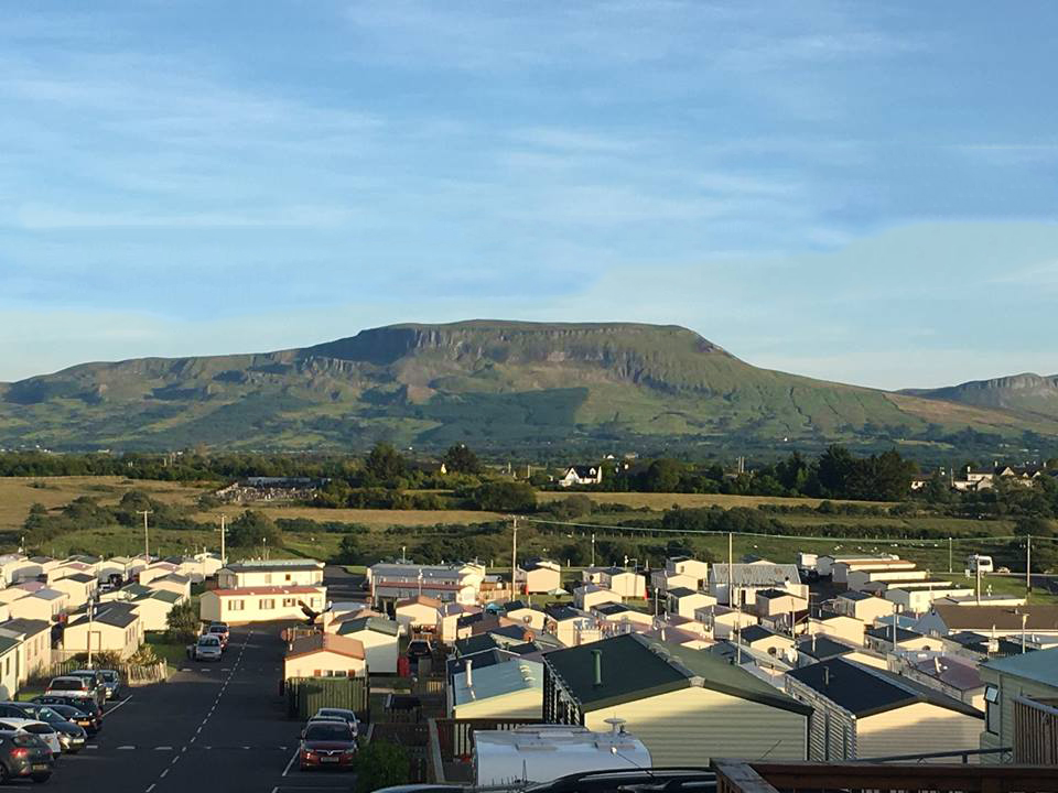 Looking onto the Dartry mountains from our holiday park
